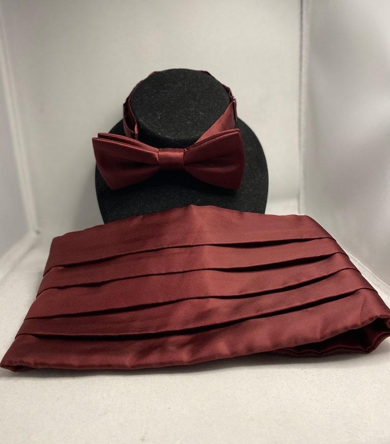 Cummerbund & Tie Gift for Him Class Reunion Prom Wedding image 0