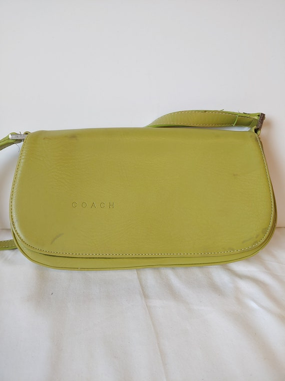 Vintage Coach Lime Green Purse Handbag