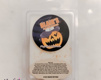 BLAIR'S Pum-Pum-PUMPKIN: Soul Eater Inspired Pumpkin Pie Scented Hand Crafted Soy Wax Melts for Warmers 3 oz. | Halloween | Gift | Anime |