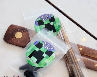CREEPER SLIME! Minecraft inspired Fizzy Pop & Coconut Scented Hand Crafted Incense Stick or Cones | Gaming | Geek | Gift