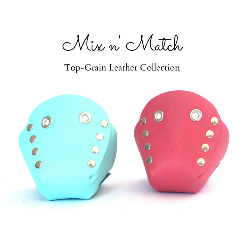 Free U.S Shipping! Mix n/' Match Genuine Top Leather Roller Skate Toe CapsToe Guards