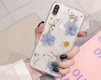 Pressed Dried Flower Handmade iPhone Case 8 8p Xr X XS Xsmax iPhone 11 11 Pro Max, iphone 11 case
