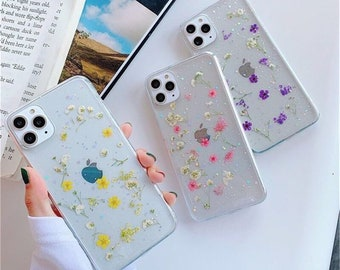 Pressed Dried Flower Handmade iPhone Case 8 8p Xr X XS Xsmax iPhone 11 11 Pro Max, iphone 12 case