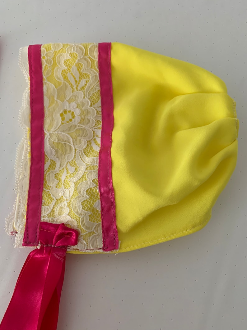 Assorted Yellow Baby Bonnets