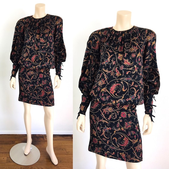 Vintage 1980s 1990s STANLEY PLATOS Silk BALLOON Sl