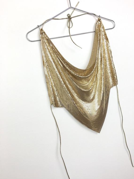 Vintage GOLD METALLIC Metal MESH Whiting & Davis H