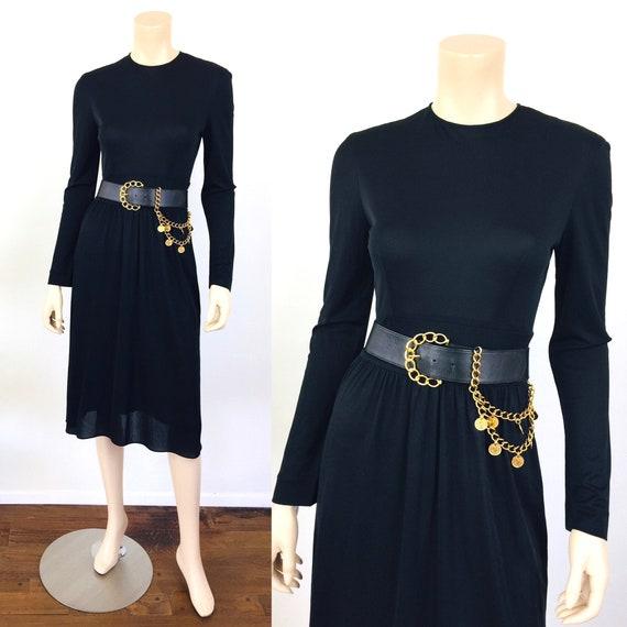 Vintage 1960s EMILIO PUCCI Black Jersey Dress