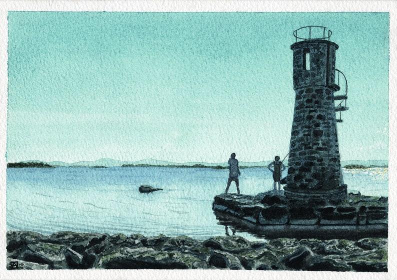Ballycurrin Lighthouse Lough Corrib County Galway Ireland. image 0