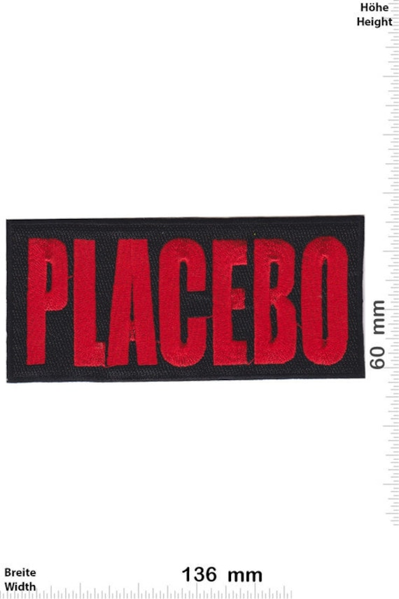Placebo Red Big VINTAGE MINT Condition 80s Patch B