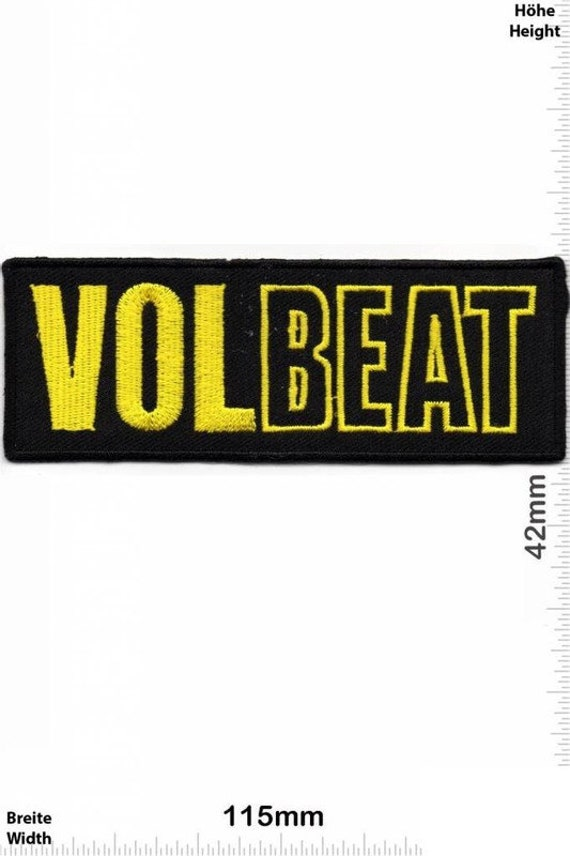Volbeat Gold VINTAGE MINT 80s Patch Badge Embroide