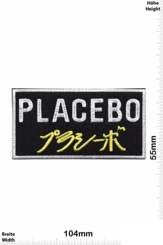 Placebo VINTAGE MINT Condition 80s Patch Badge Emb