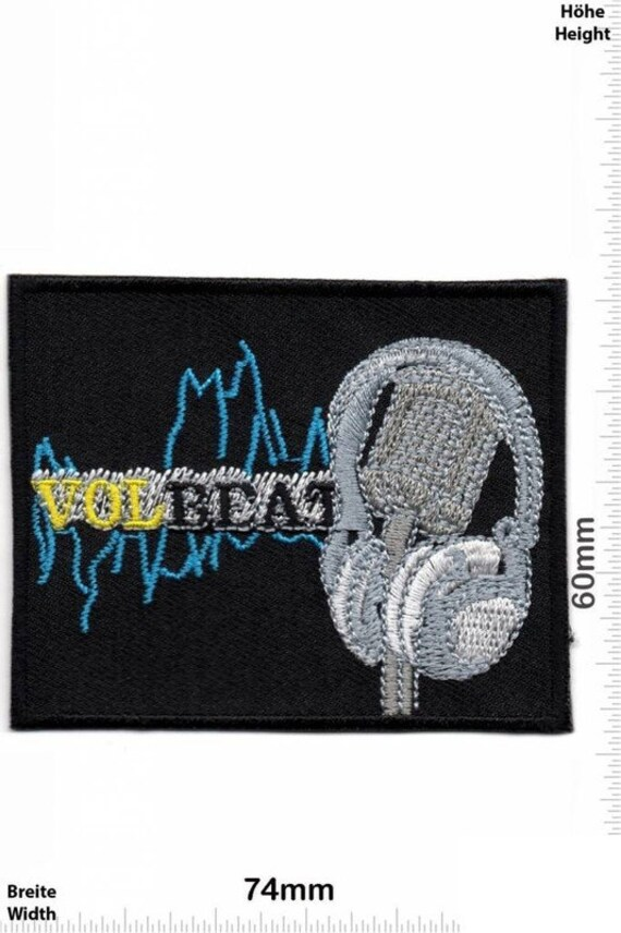 Volbeat Vol Beat VINTAGE MINT 80s Patch Badge Embr