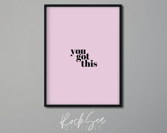 Motivational Prints   Inspirational Quotes Printable   Motivating Poster   Encouragement Words   Minimal Simple Wall Art   Office Art  
