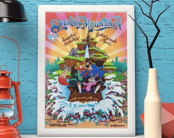 Classic Ride Poster Disney Print Big Thunder Mountain Print Quality Print in Sizes A4 Vintage Disney Disney Ride Print A5 and A6