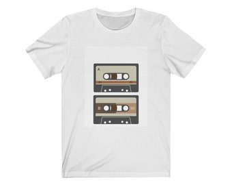 Retro Casset Tape Jersey Short Sleeve T-Shirt