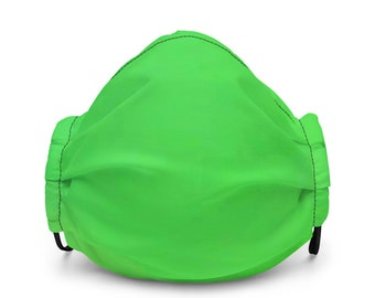 Soft Premium Face Mask in Lime - Adjustable, Washable, Reusable