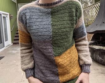 Camryn Color Block Sweater Crochet Pattern