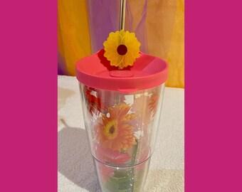 Sunflower Coffee Shaker I Straw Topper