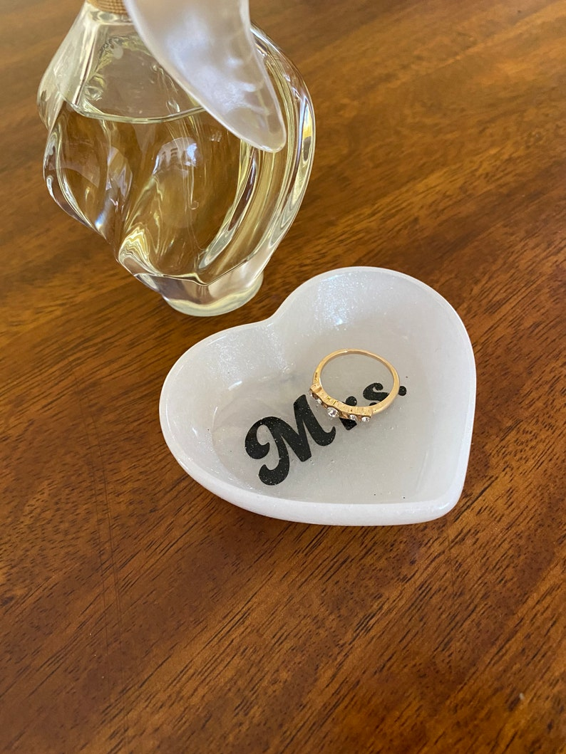 Wedding Ring Dish Gift for the Bride Engagement Ring Dish Mrs Ring Dish Trinket Dish Gift Jewelry Dish Engagement Gift
