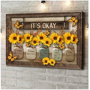 Sunflower Wall Art Etsy