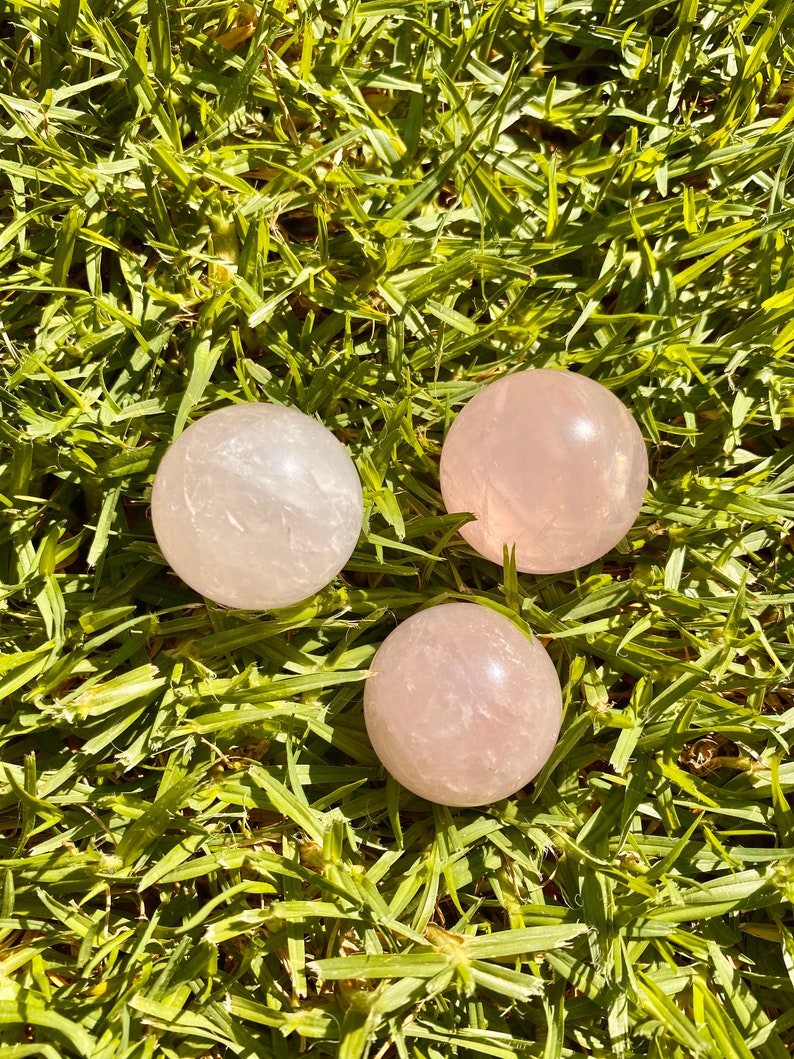 Reiki Rose Quartz Ball Crystal Rose Quartz Rock Rose Quartz Sphere
