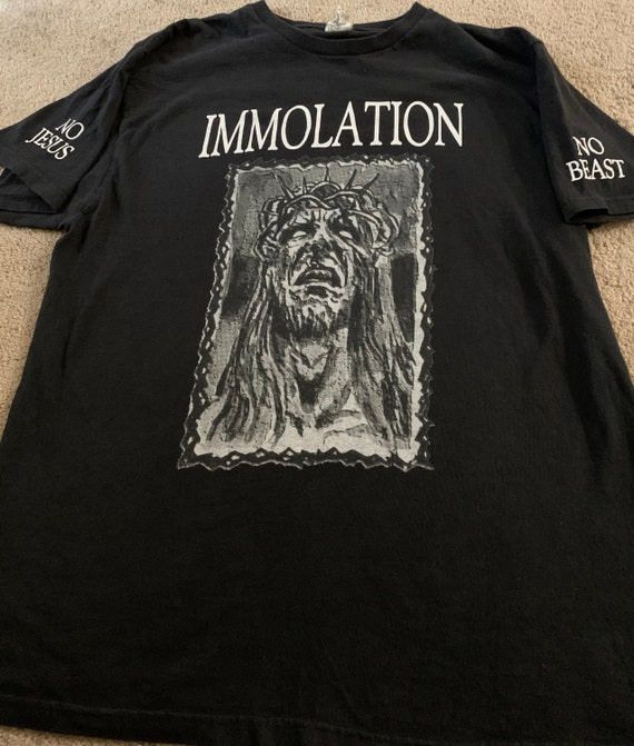 Immolation 99 size large Death to Jesus.