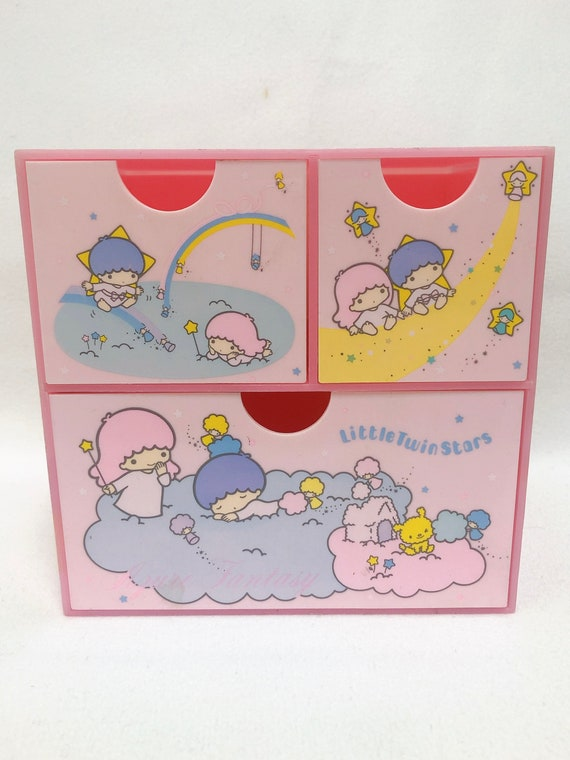 1976 Sanrio Little Twin Stars Vintage 3 drawers pl
