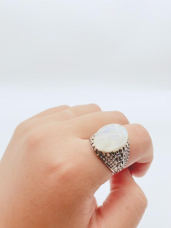 Sterling Silver Vintage Moonstone Ring, Moonstone