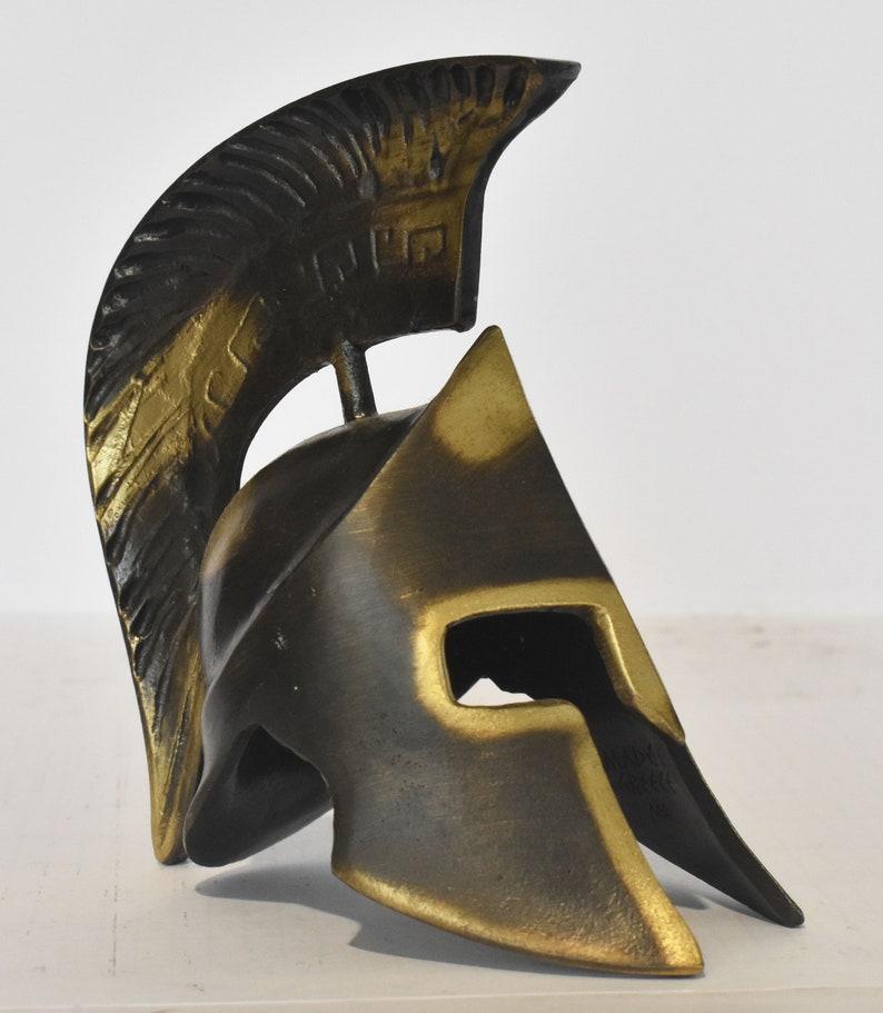 Battle of Thermopylae Spartan king 300 Spartans pure bronze  statue Leonida/'s Helmet