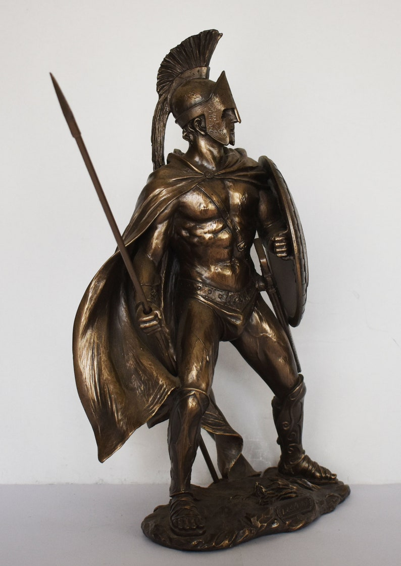 Cold Cast Bronze Resin Molon Labe 480 BC Come and Take Them Leonidas Leader of 300 Spartan King Battle of Thermopylae