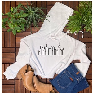 NYC Cropped Hoodie Fashionable work out clothing Gym Crop Top I love new york cropped Sweatshirt NYC Babe workout Blogger Cropped Hoodie