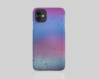 Raindrops #4 iPhone Case with Optional Pop Up Stand Add On