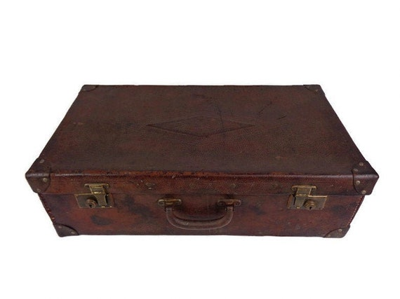 Vintage Large Suitcase, Travel Suitcase, Carboard