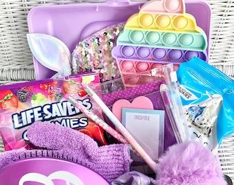 Purple Glam Box, Gift for Girl, Gift for Tween, Tween Girl Gift, Tween Gift, Camp Gift, Birthday Gift for Girl, Teen Gift, Makeup box gift