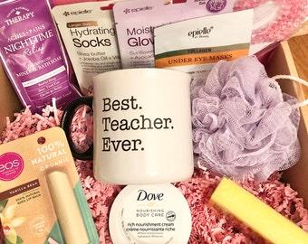 Teacher Gift Box, Teacher Gift Basket, Teacher Appreciation Gift, Gift for Teacher, Birthday gift for teacher, Spa Gift for Teacher