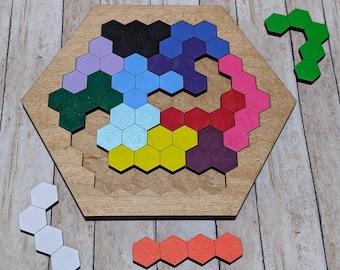 Wooden Hexagon Puzzle