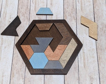 Wooden Trapezoid Puzzle