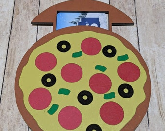 Pizza Gift Card Holder SVG