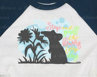 Remi Stop and Smell the Flowers SVG,Remi,Rattatouille,Disney,Flower,Spring,Mouse,Cricut,Png,Jpeg,Silhouette,Dxf,Digital Download