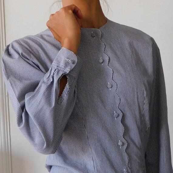 Agnesca/90s Vintage Cotton Blouse/Scallops edge/Lo