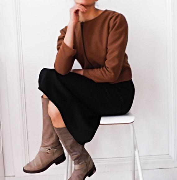 Brown Jacket/Wool Jacket/Crop Jacket