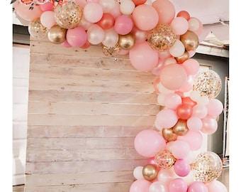 Blush Pink Rose Gold Balloon Garland Kit, Ballon Arch Kit, Pink Blush Arch Kit, Engagement Balloon Arch,  Party Decor