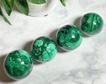 Malachite Crystal Spheres