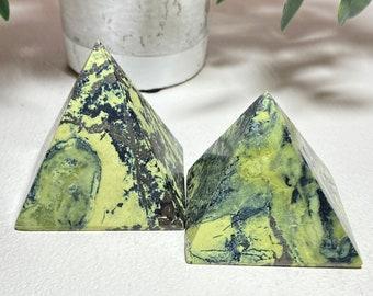 Serpentine Crystal Pyramid