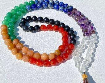 Crystal Chakra Mala Prayer Beads
