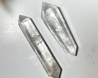 Clear Quartz Crystal Double Terminated Wands - Manifesting, Amplifying Energy
