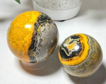 Bumble Bee Jasper Crystal Spheres - Positivity, Life's Purpose