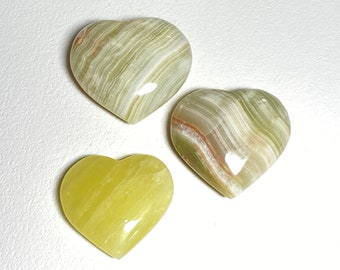 Calcite Crystal Hearts - Self Discovery, Hope