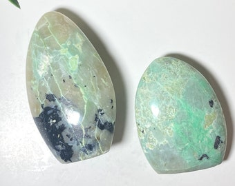 Green Moonstone Crystal Free Forms