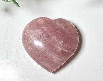 Rose Quartz Crystal Hearts - Love, Trust, Emotional Healing